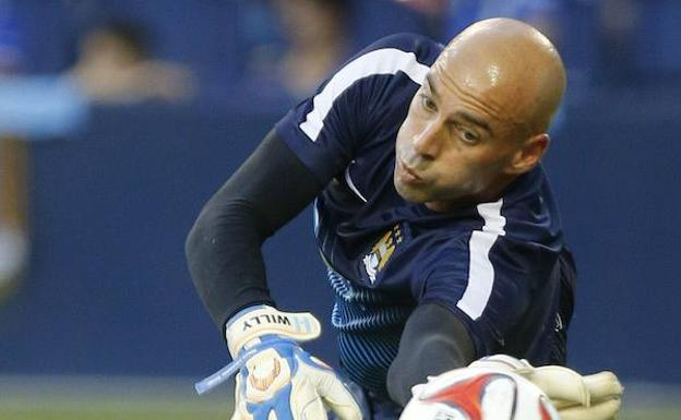 Willy Caballero, con el Manchester City. /Afp