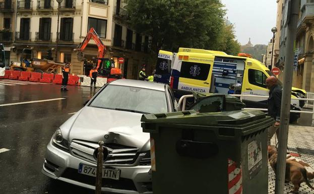 Accidente en la calle San Marín. /S. V.