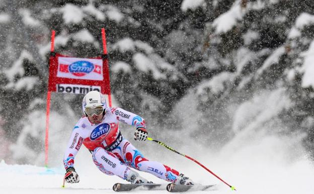David Poisson, compitiendo en Bormio 2009.