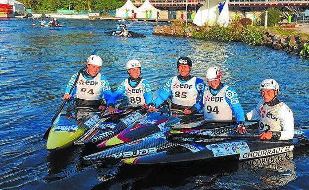 Hernanz, Goikoetxea, Crespo, Olazazabal y Chourraut, en Pau./