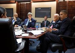 Obama, Kerry, Biden y Holder debaten sobre Siria. / Reuters | Atlas/