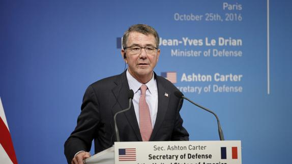 Ashton Carter, secretario de Defensa de EE UU. /