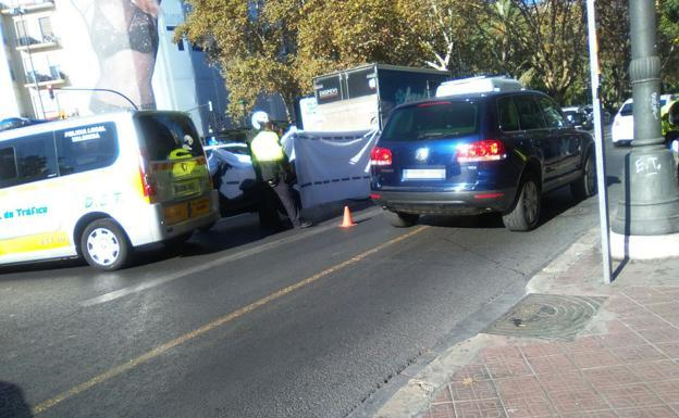 Lugar del accidente en Valencia./