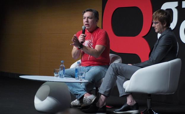 Shawn Layden y Mark Cerny./Gamelab