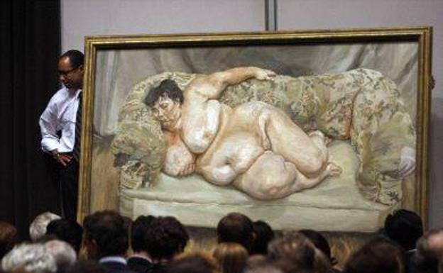 La obra de Lucian Freud titulada 'Benefits Supervisor Sleeping'. /Efe