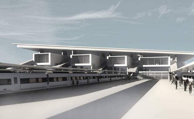 Fotomontaje de la futura estación internacional de Irun/Adif