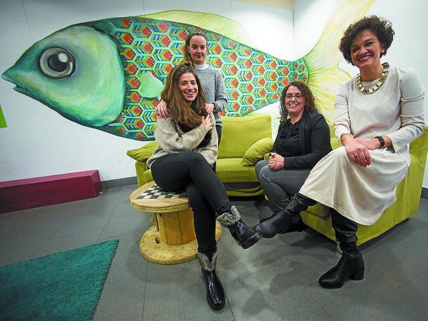 Cristina Álvarez Núñez, Ainhoa Barroso de la Mata, Mónica Martínez y Eunate Encinas. / F. DE LA HERA