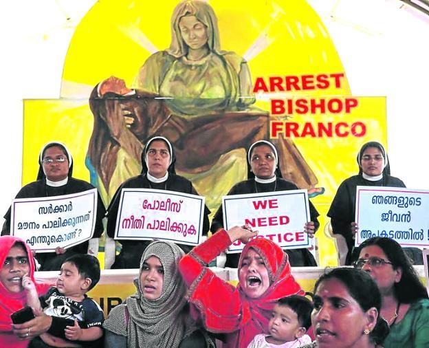 Varias religiosas indias denuncian las violaciones sufridas a manos del obispo de Kerala, Franco Mulakkal. / R. C.
