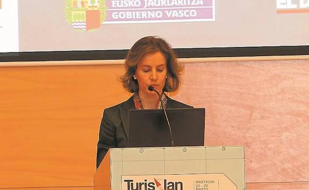 La consejera, Sonia Pérez Ezquerra, en la inauguración del Foro.