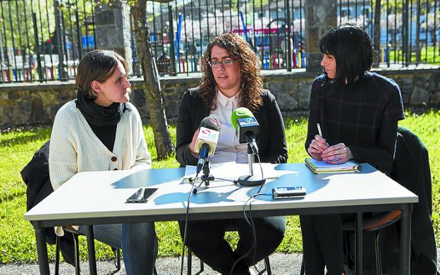 Itziar Rodríguez, Mónica Martínez y Raquel Domínguez. / F. DE LA HERA