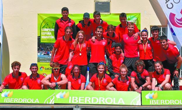 El equipo irundarra volvió de Aranjuez con tres medallas y el cuarto puesto por equipos./