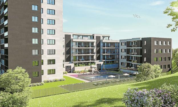 Enorme cambio. Infografía de la vista desde Kostorbe de la propuesta de desarrollo residencial./