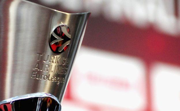 El trofeo de la Euroliga. /@EuroLeague