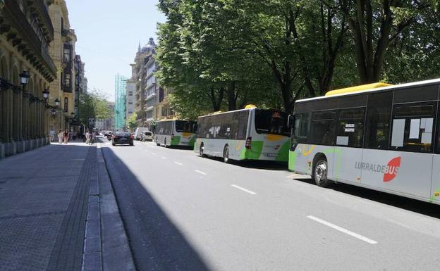 Los servicios de Lurraldebus se verán afectados por la cumbre del G-7. /Lobo Altuna
