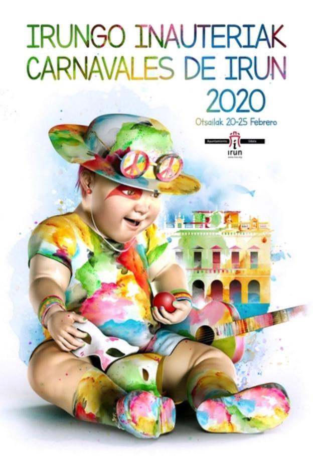 El cartel de Rubén Lucas 'Tradición' anunciará el Carnaval de Irun este año