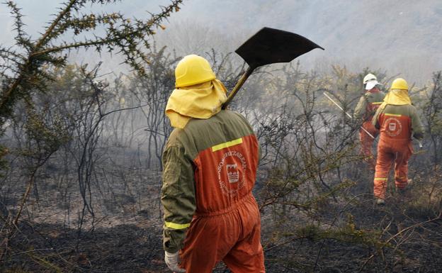 Vegetación seca y fuertes vientos, la combinación perfecta para un incendio