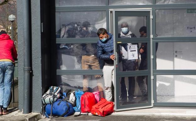 Centro de acogida en Irun. /DE LA HERA