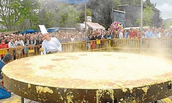 Tortilla de huevo mas grande del mundo